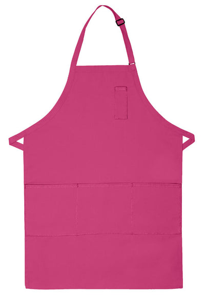 three-pocket-butcher-apron-w-pencil-pocket-ds-224-Silver-Oasispromos