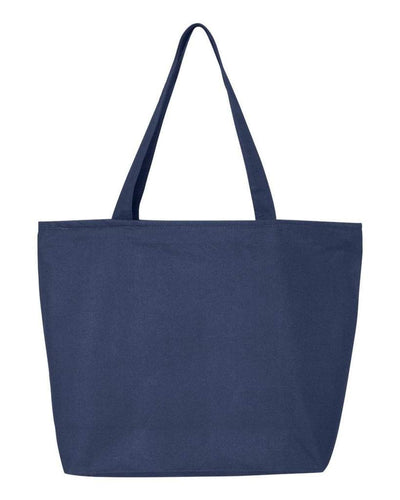 24-5l-canvas-zippered-tote-Royal Blue-Oasispromos