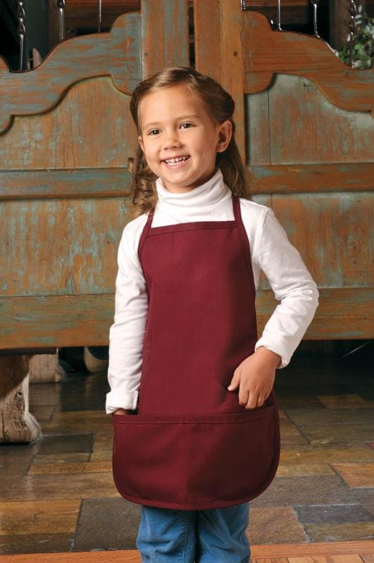 two-pocket-child-bib-apron-non-adj-neck-ds-250-Black-Oasispromos