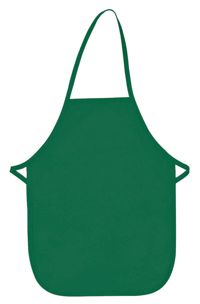 no-pocket-child-bib-apron-non-adj-neck-ds-250np-Kelly Green-Oasispromos