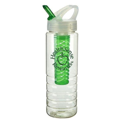 26-oz-stark-bottle-w-fruit-infuser-Translucent Green-Oasispromos