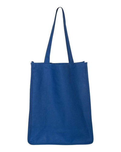gusseted-jumbo-canvas-shopper-tote-bag-Navy Blue-Oasispromos