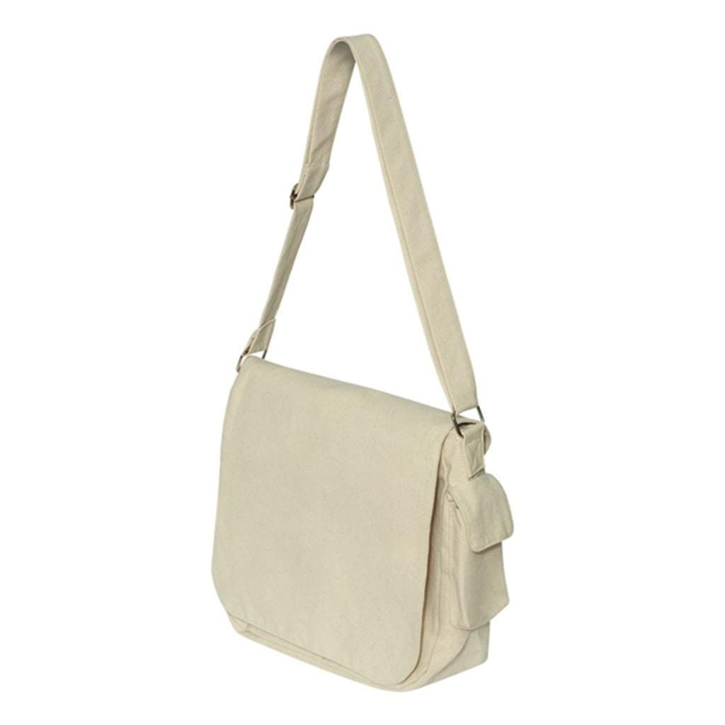TF1265 - Hyp Canvas Messenger Bag With Top Flap - Natural
