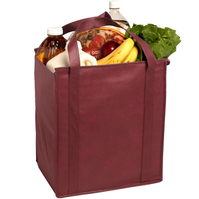 insulated-large-non-woven-grocery-tote-Hunter Green-Oasispromos