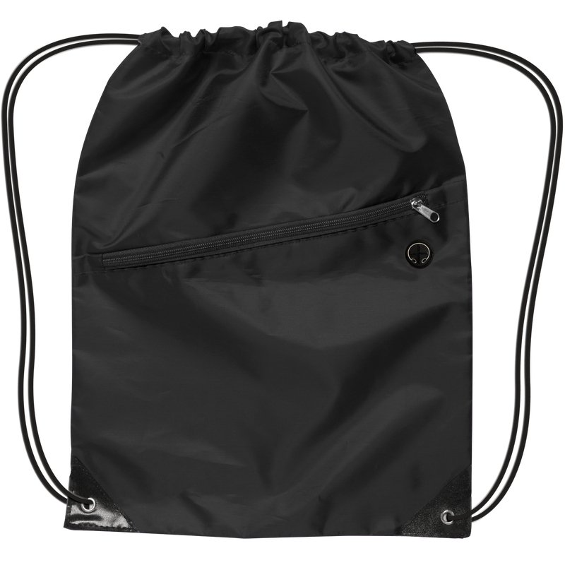 drawstring-backpack-w-zipper-Black-Oasispromos