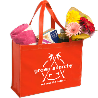 non-woven-shopping-tote-Hunter Green-Oasispromos
