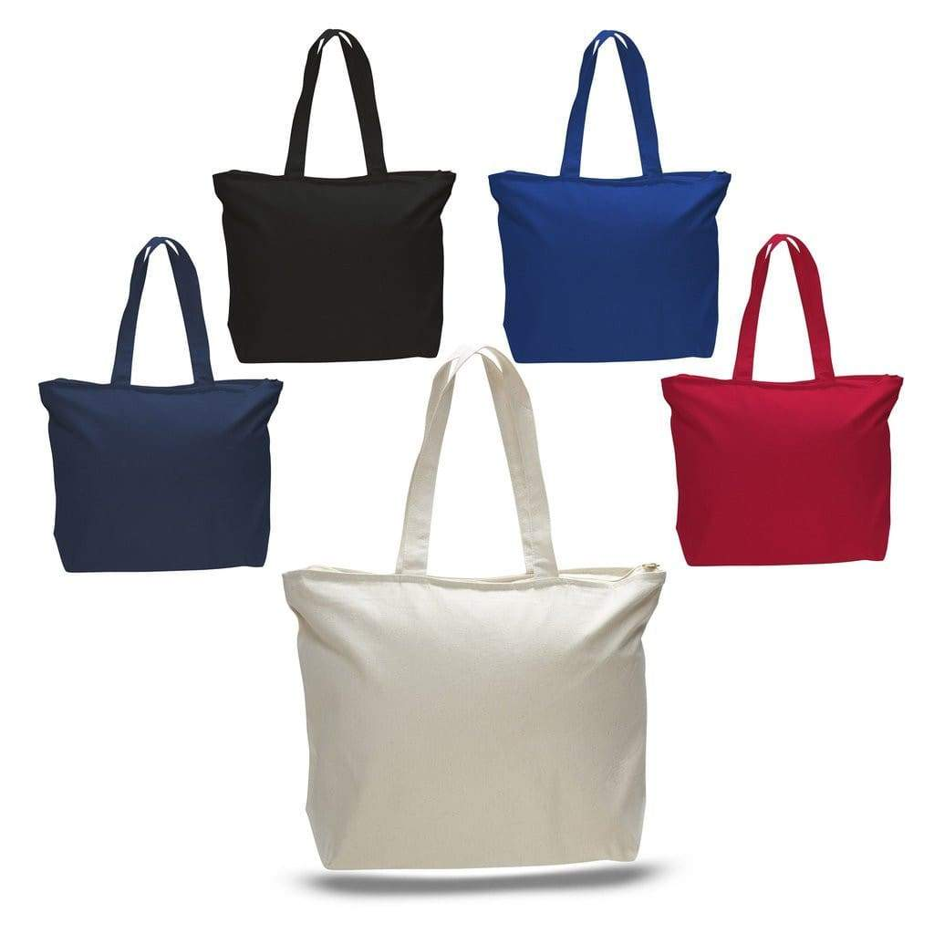 TFW611 - 24.5L Cotton Canvas Zippered Tote