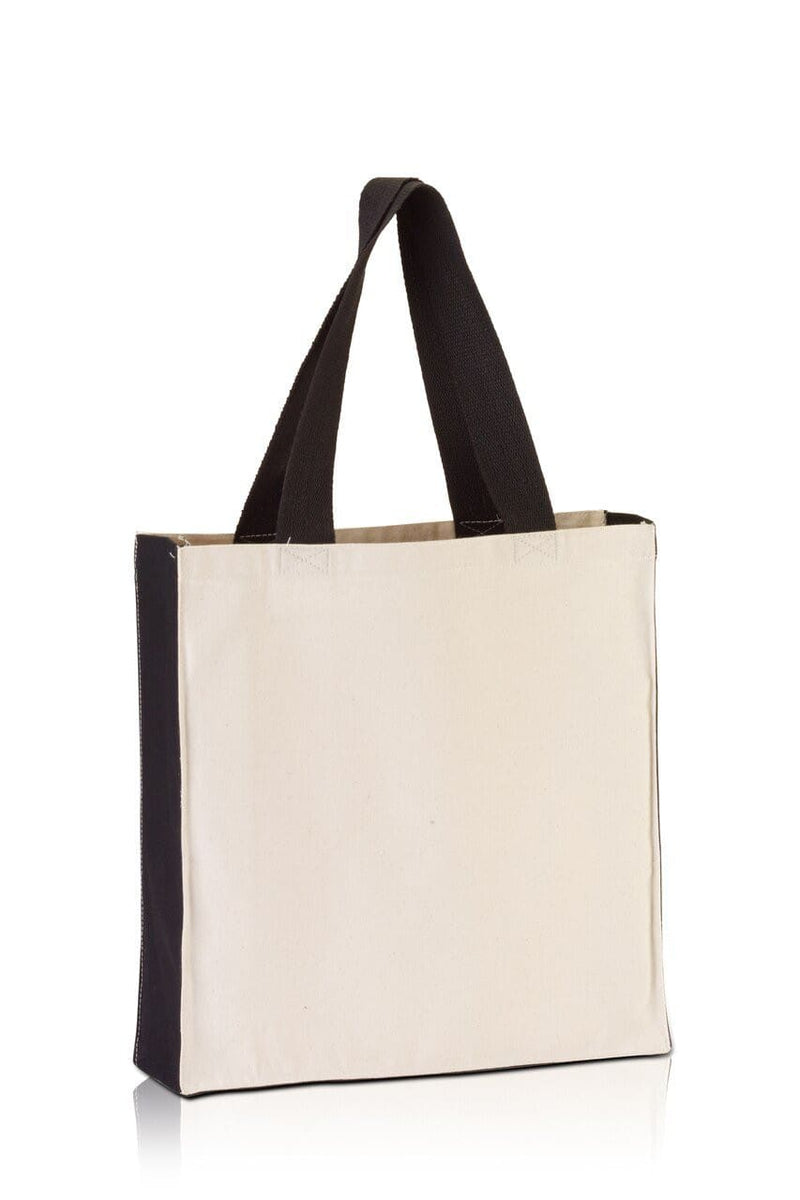 bg1253-promo-tote-with-contrasting-handles-and-full-gusset-Natural / Black-Oasispromos