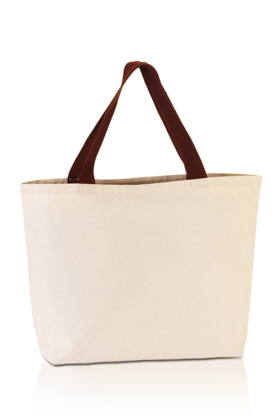 premium-fashion-canvas-tote-with-contrasting-handles-Natural / Chocolate-Oasispromos