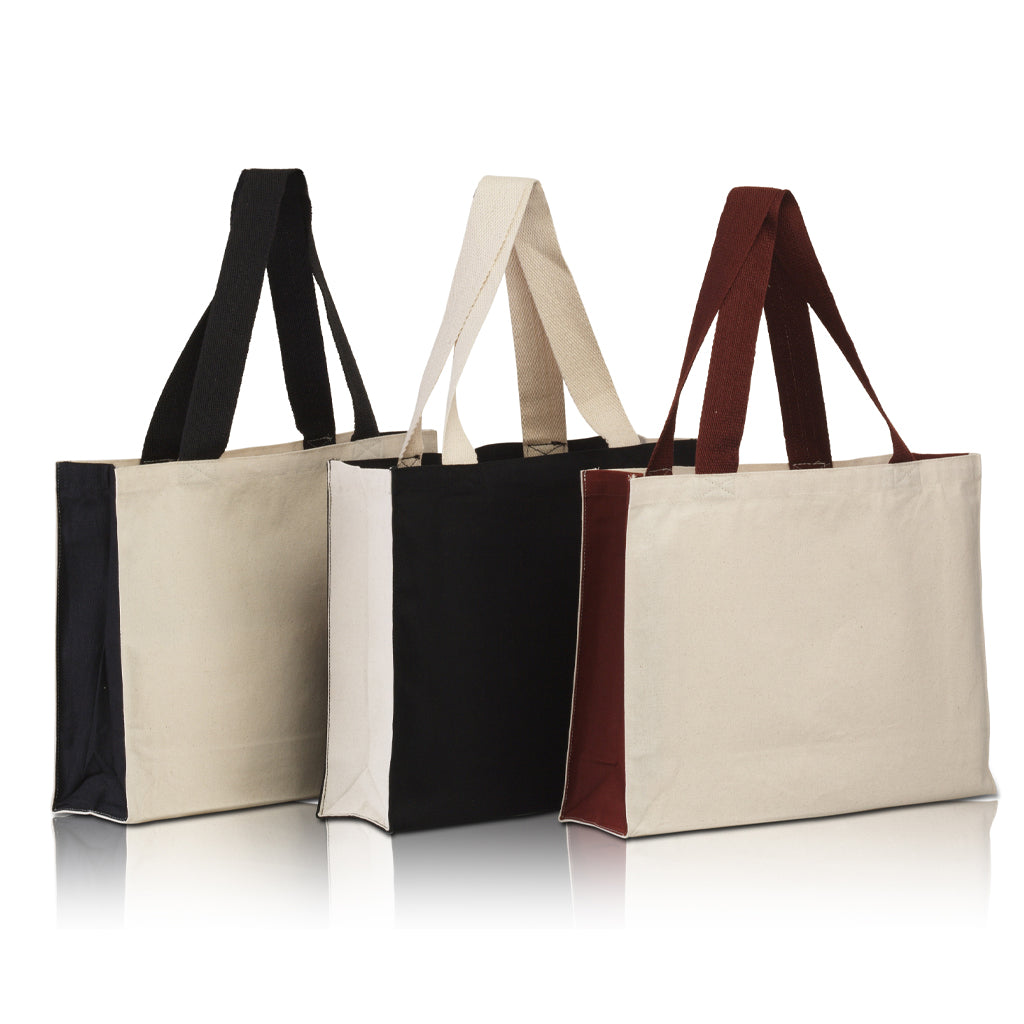 BG7599 - Promo Tote with contrasting handles and full gusset