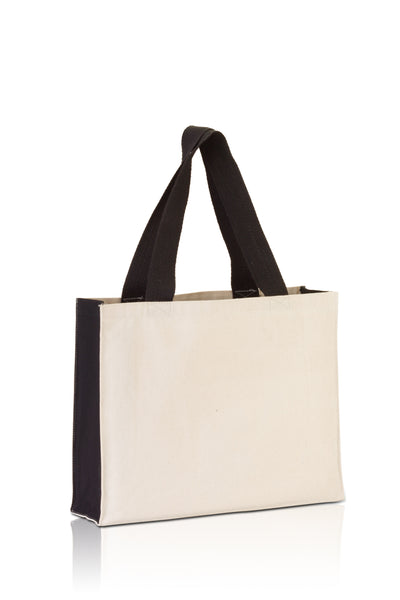 bg7599-promo-tote-with-contrasting-handles-and-full-gusset-Natural / Chocolate-Oasispromos