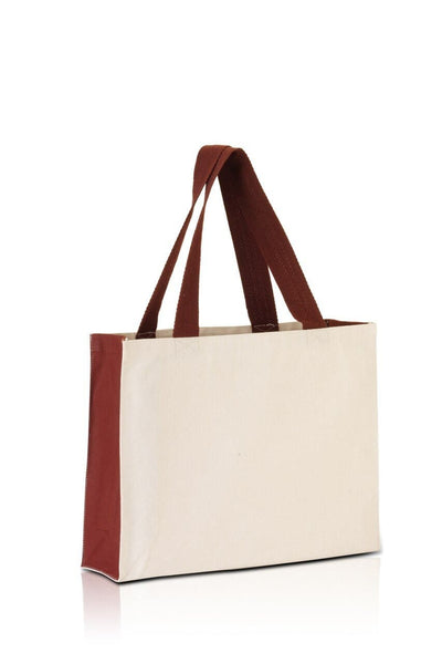 bg7599-promo-tote-with-contrasting-handles-and-full-gusset-Black / Natural-Oasispromos