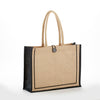 jb-912-two-tone-tuscany-jute-bag-Natural / Chocolate-Oasispromos