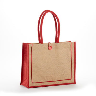 jb-912-two-tone-tuscany-jute-bag-Natural / Red-Oasispromos