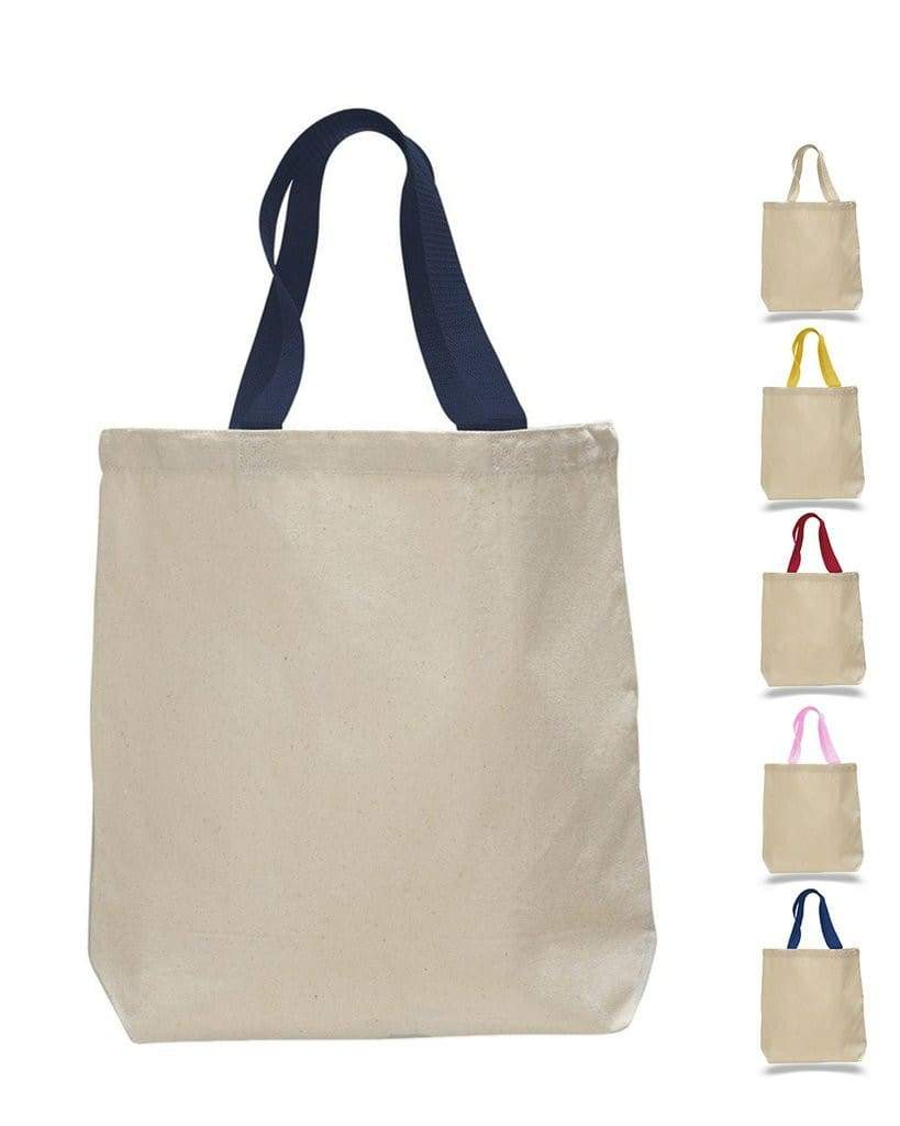 11l-canvas-tote-with-color-handles-Natural / Black-Oasispromos