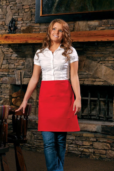 half-bistro-apron-with-center-divided-pocket-ds-110-Black-Oasispromos