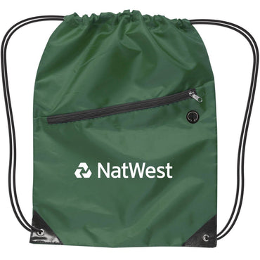 Drawstring Backpack w/Zipper - Oasis Promos