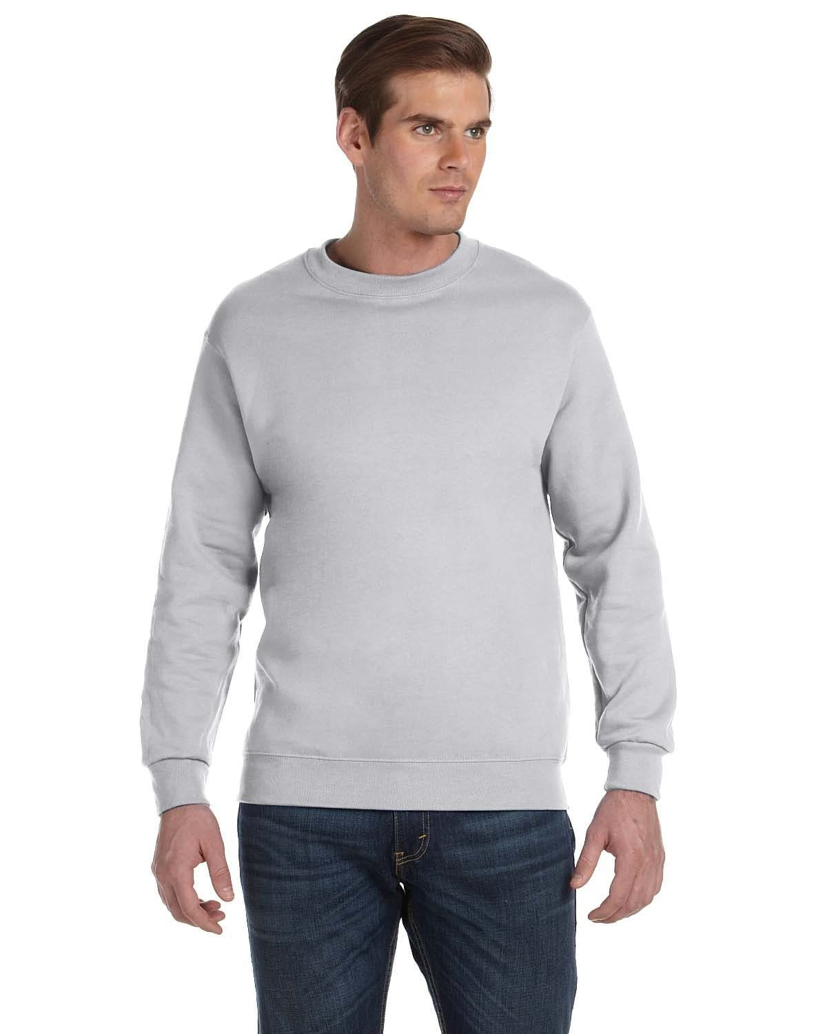 g120-adult-dryblend-adult-9-oz-50-50-fleece-crew-Small-ASH GREY-Oasispromos