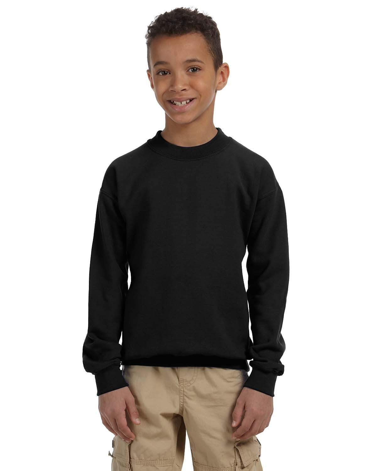 g180b-youth-heavy-blend-8-oz-50-50-fleece-crew-XS-BLACK-Oasispromos