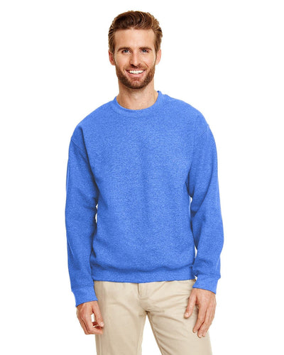 g180-adult-heavy-blend-adult-8-oz-50-50-fleece-crew-large-xl-Large-HTHR SPORT ROYAL-Oasispromos