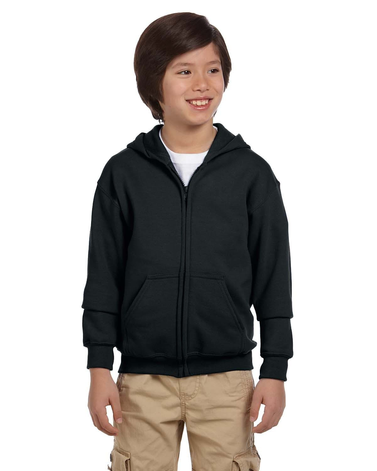g186b-youth-heavy-blend-8-oz-50-50-full-zip-hood-XSmall-BLACK-Oasispromos