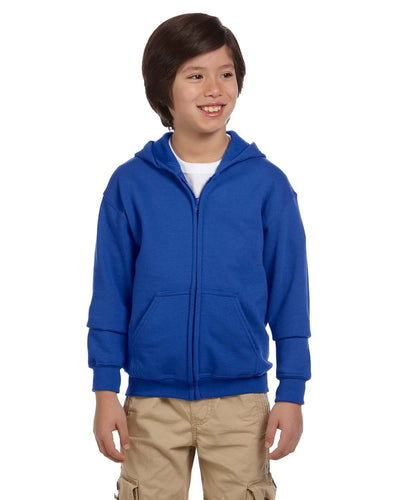 g186b-youth-heavy-blend-8-oz-50-50-full-zip-hood-Small-CARDINAL RED-Oasispromos