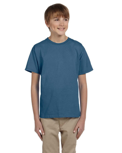g200b-youth-ultra-cotton-6-oz-t-shirt-medium-large-Medium-INDIGO BLUE-Oasispromos