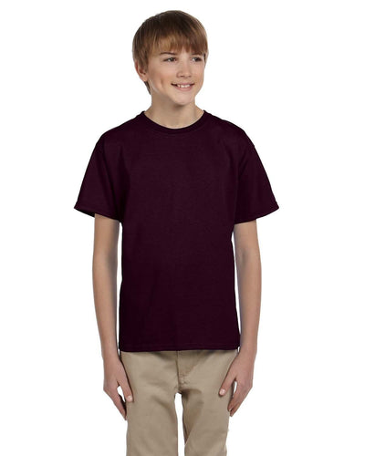 g200b-youth-ultra-cotton-6-oz-t-shirt-medium-large-Medium-DARK CHOCOLATE-Oasispromos