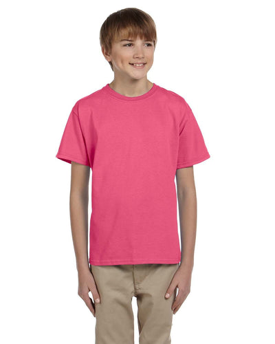 g200b-youth-ultra-cotton-6-oz-t-shirt-xs-small-XSmall-SAFETY PINK-Oasispromos