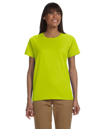 g200l-ladies-ultra-cotton-6-oz-t-shirt-xs-large-XSmall-SAFETY GREEN-Oasispromos