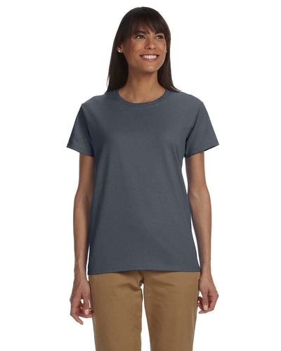 g200l-ladies-ultra-cotton-6-oz-t-shirt-xs-large-XSmall-DARK CHOCOLATE-Oasispromos
