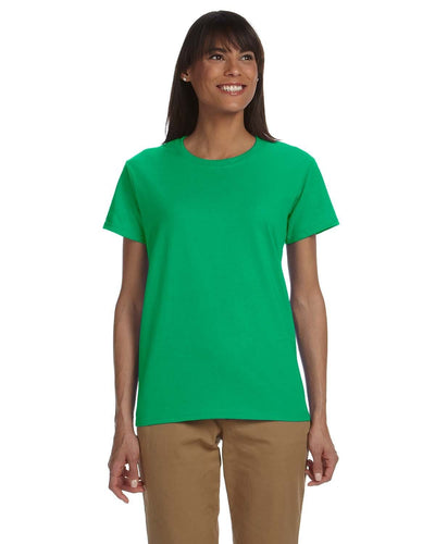 g200l-ladies-ultra-cotton-6-oz-t-shirt-xs-large-XSmall-IRISH GREEN-Oasispromos