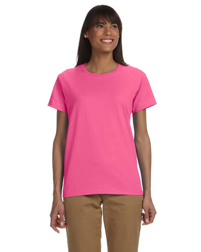 g200l-ladies-ultra-cotton-6-oz-t-shirt-xs-large-XSmall-SAFETY PINK-Oasispromos