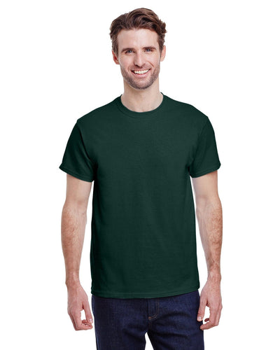 g200-adult-ultra-cotton-6-oz-t-shirt-small-Small-FOREST GREEN-Oasispromos