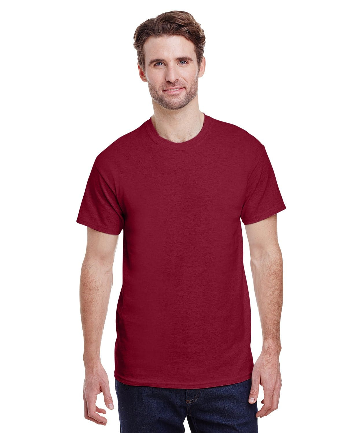 g200-adult-ultra-cotton-6-oz-t-shirt-2xl-2XL-ANTIQ CHERRY RED-Oasispromos