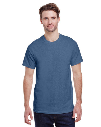 g200-adult-ultra-cotton-6-oz-t-shirt-small-Small-HEATHER INDIGO-Oasispromos