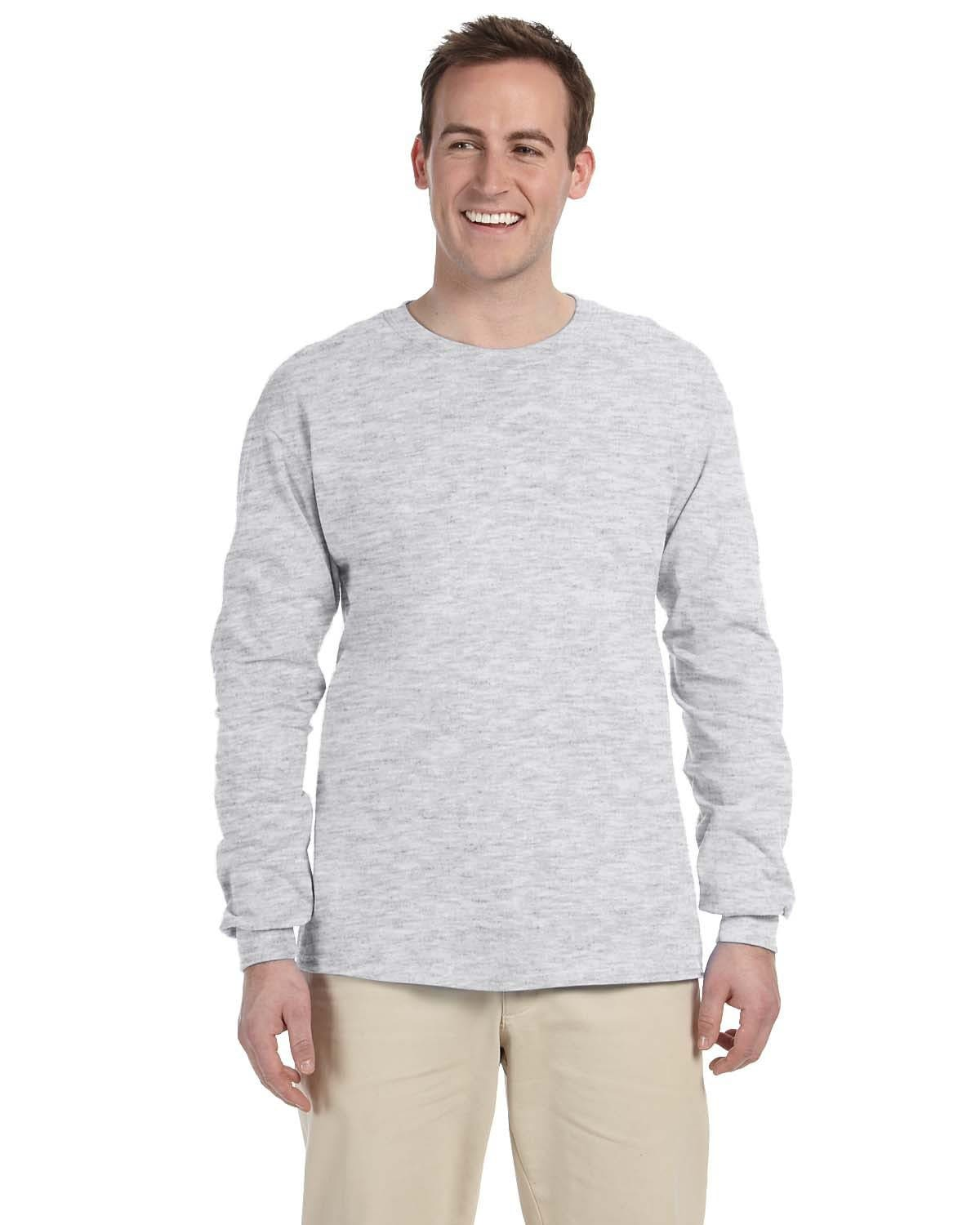 g240-adult-ultra-cotton-6-oz-long-sleeve-t-shirt-4xl-5xl-4XL-ASH GREY-Oasispromos