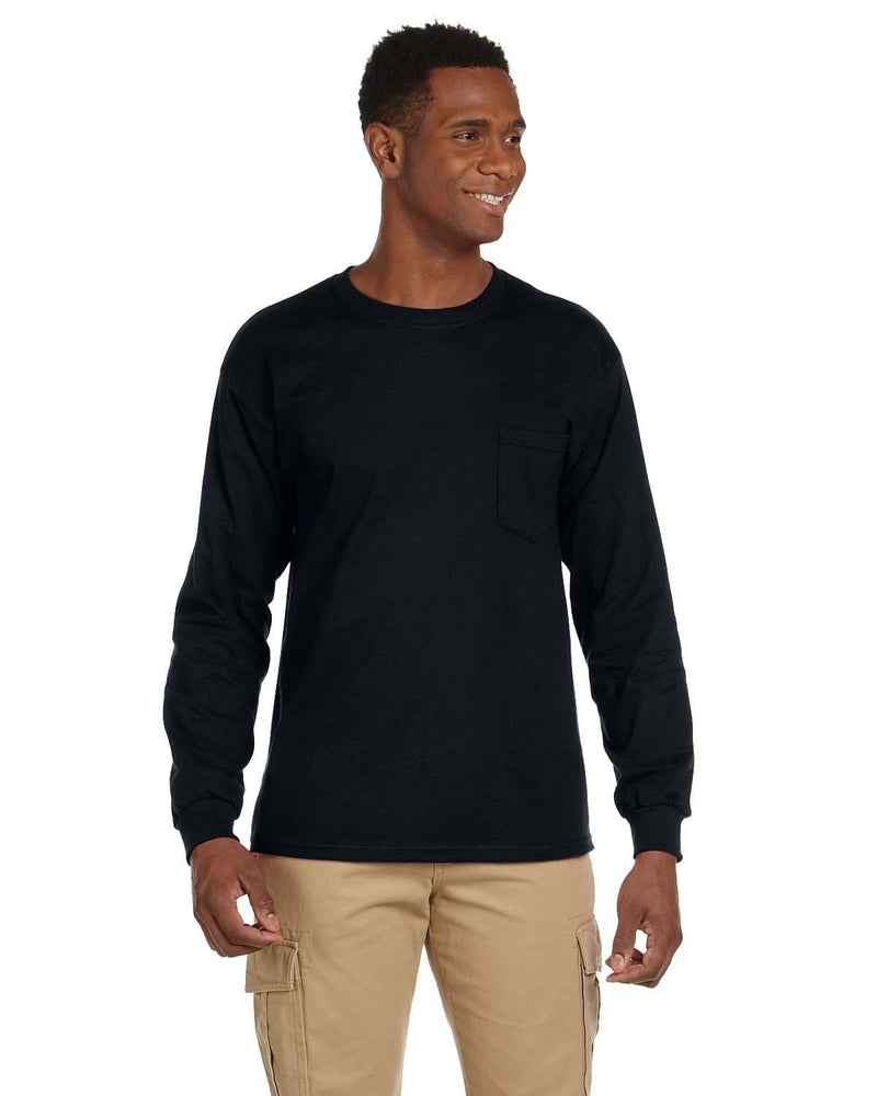 g241-adult-ultra-cotton-6-oz-long-sleeve-pocket-t-shirt-5XL-BLACK-Oasispromos