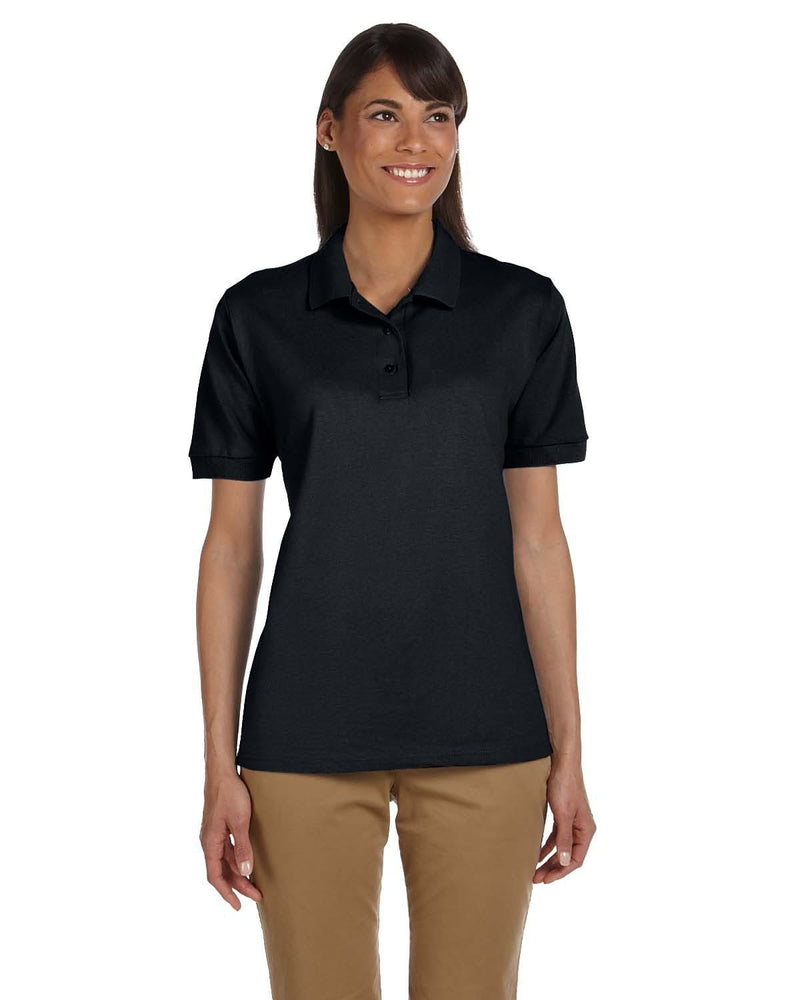 g380l-ladies-ultra-cotton-ladies-6-3-oz-piqu-polo-Small-BLACK-Oasispromos