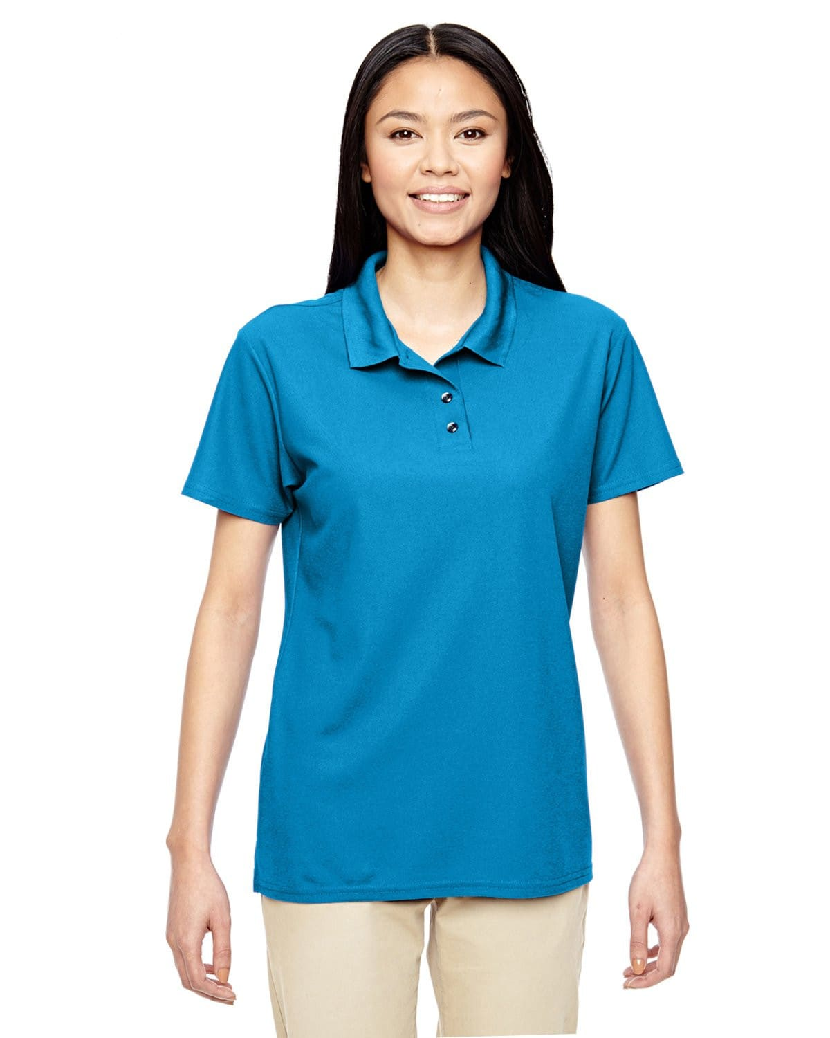 g458l-ladies-performance-5-6-oz-double-piqu-polo-Small-BLACK-Oasispromos