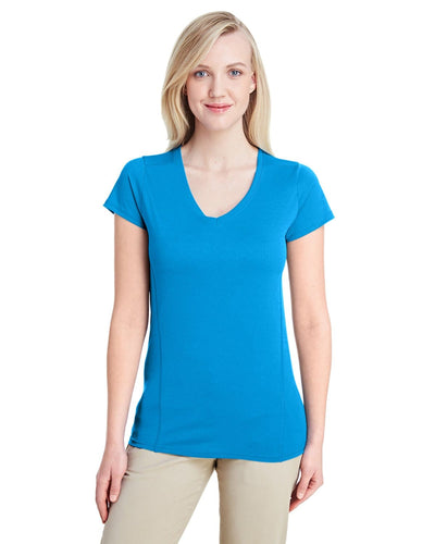 g47v-ladies-performance-ladies-4-7-oz-v-neck-tech-t-shirt-XSmall-ELECTRIC GREEN-Oasispromos