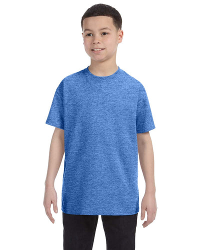 g500b-youth-heavy-cotton-5-3oz-t-shirt-xsmall-XSmall-HEATHER ROYAL-Oasispromos