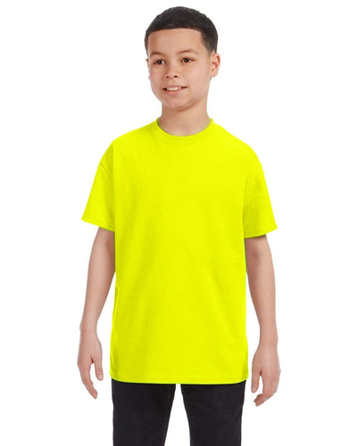 g500b-youth-heavy-cotton-5-3oz-t-shirt-large-Large-SAFETY PINK-Oasispromos