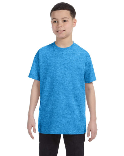 g500b-youth-heavy-cotton-5-3oz-t-shirt-xsmall-XSmall-HEATHER SAPPHIRE-Oasispromos