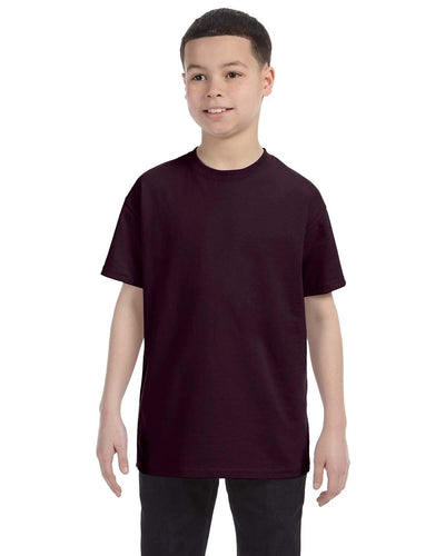 g500b-youth-heavy-cotton-5-3oz-t-shirt-xsmall-XSmall-DARK CHOCOLATE-Oasispromos