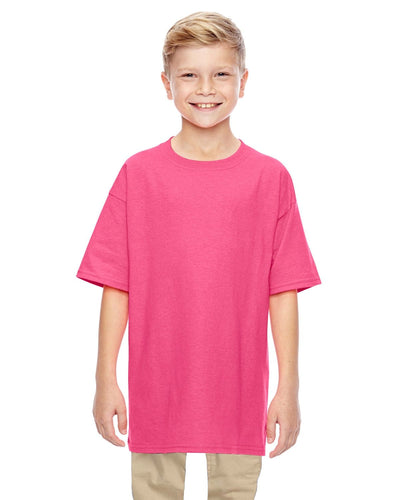 g500b-youth-heavy-cotton-5-3oz-t-shirt-xsmall-XSmall-SAFETY PINK-Oasispromos