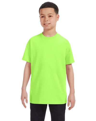 g500b-youth-heavy-cotton-5-3oz-t-shirt-small-Small-NEON GREEN-Oasispromos
