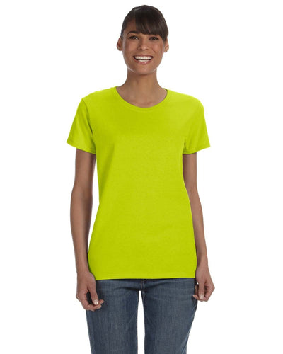 g500l-ladies-heavy-cotton-5-3-oz-t-shirt-small-medium-Small-SAFETY GREEN-Oasispromos