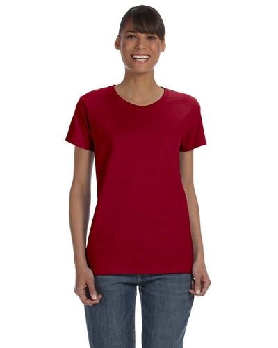 g500l-ladies-heavy-cotton-5-3-oz-t-shirt-small-medium-Small-CARDINAL RED-Oasispromos