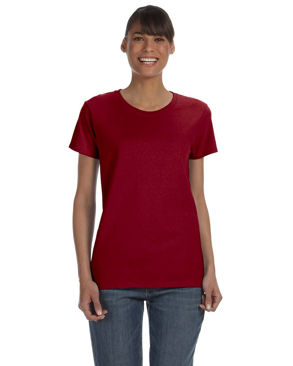 g500l-ladies-heavy-cotton-5-3-oz-t-shirt-small-medium-Small-ANT CHERRY RED-Oasispromos